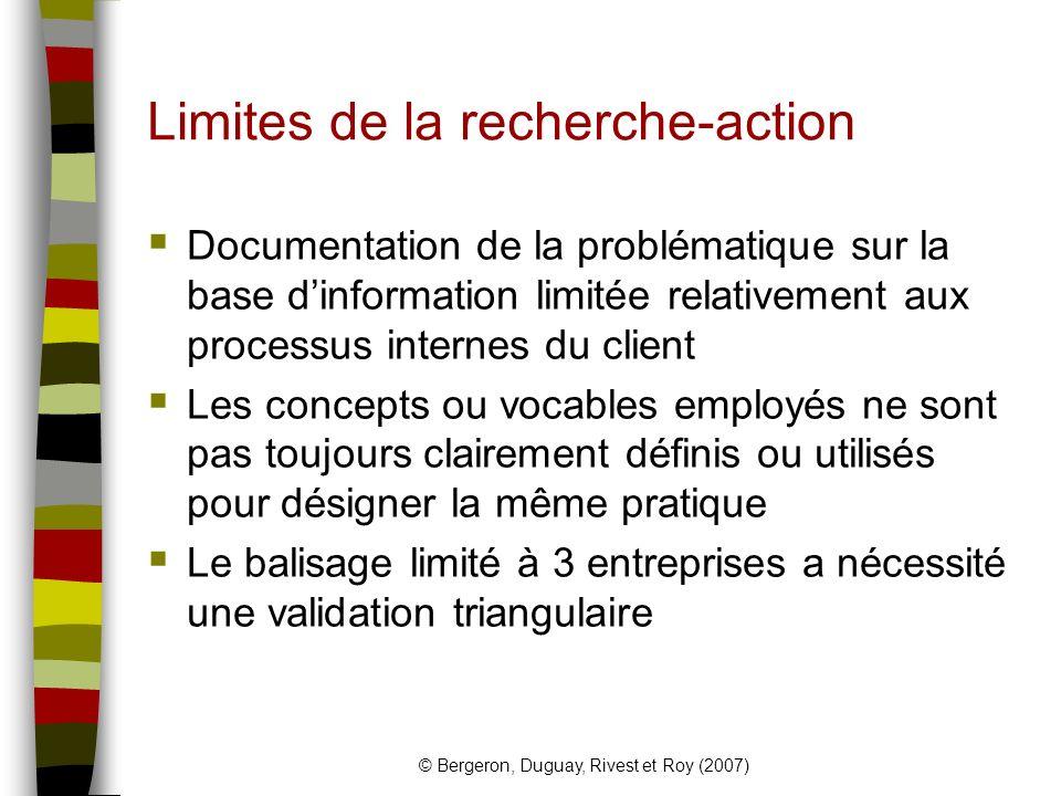 Limites de la recherche-action