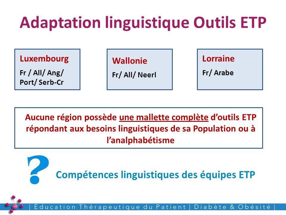 Adaptation linguistique Outils ETP