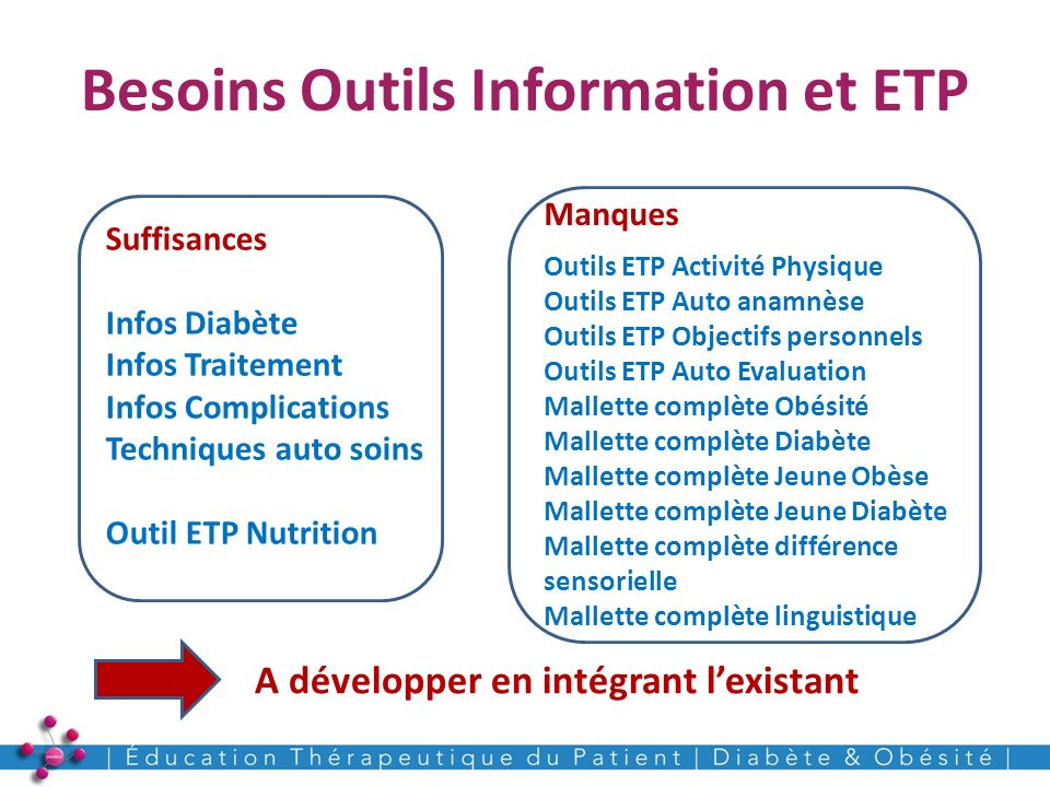 Besoins Outils Information et ETP
