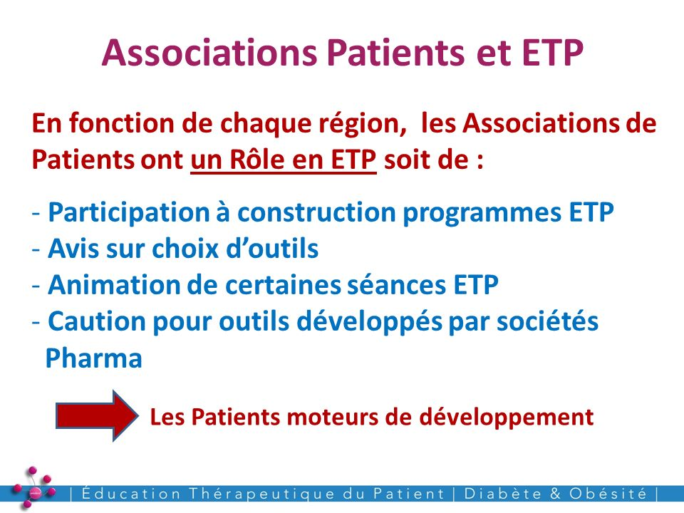 Associations Patients et ETP