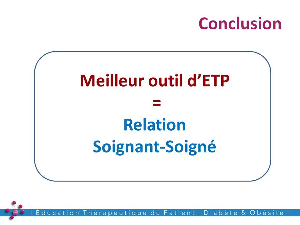 Meilleur outil d'ETP = Relation Soignant-Soigné