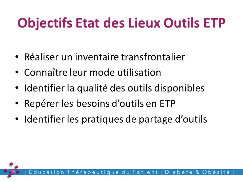 Objectifs Etat des Lieux Outils ETP