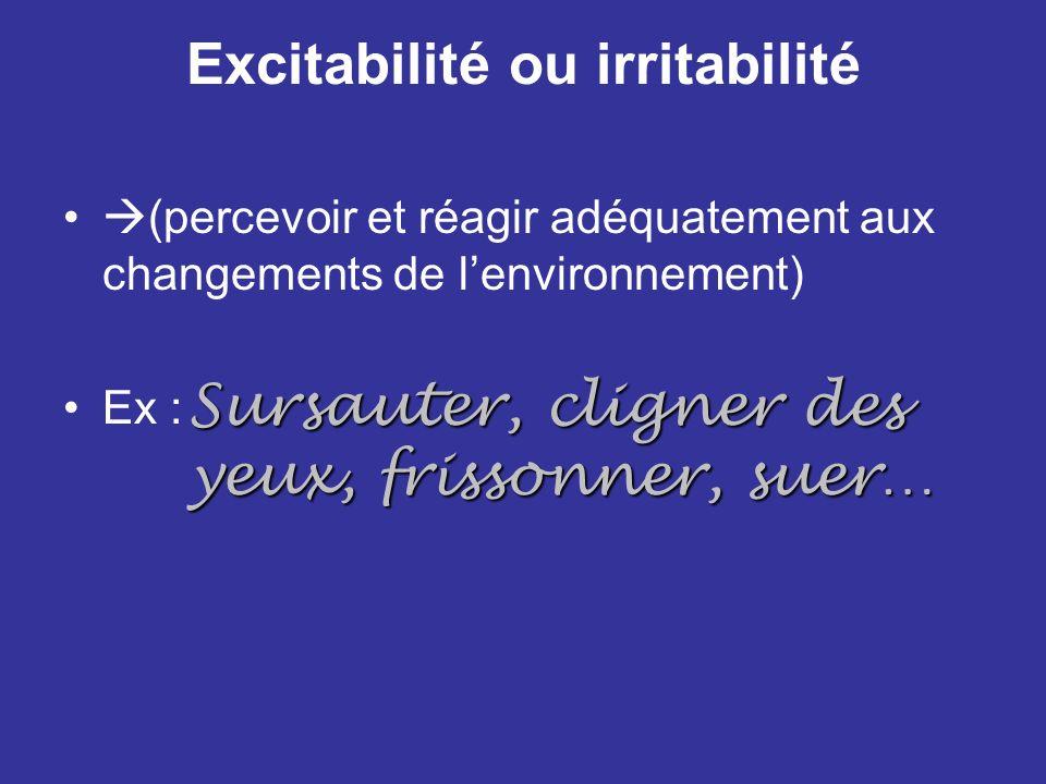 Excitabilité ou irritabilité