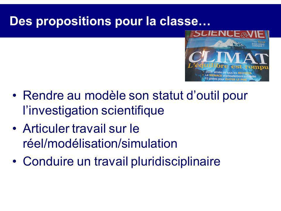 Des propositions pour la classe…