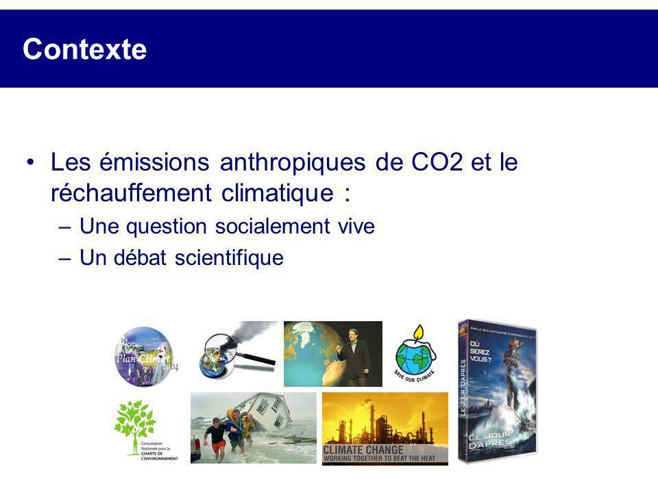 Contexte Les émissions anthropiques de CO2 et le réchauffement climatique : Une question socialement vive.