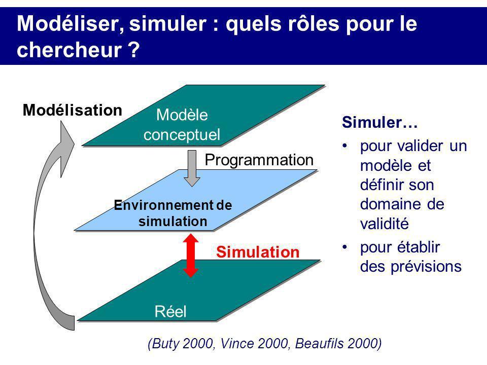Modéliser, simuler : quels rôles pour le chercheur