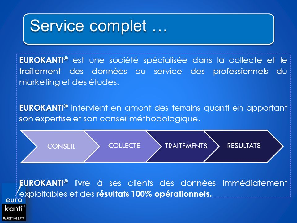Service complet …