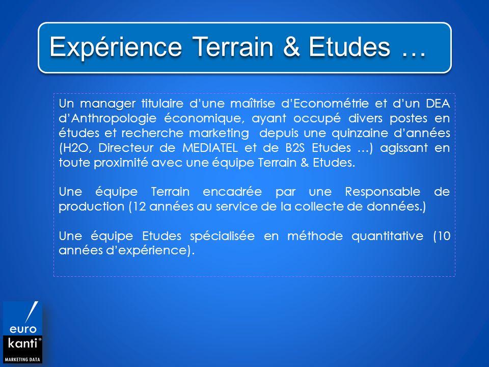 Expérience Terrain & Etudes …