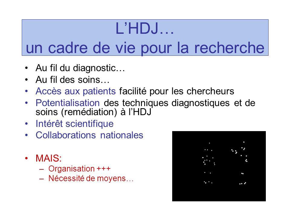 L'HDJ… un cadre de vie pour la recherche
