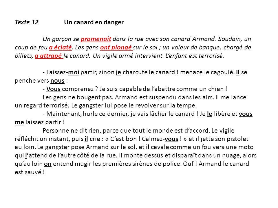 Texte 12 Un canard en danger