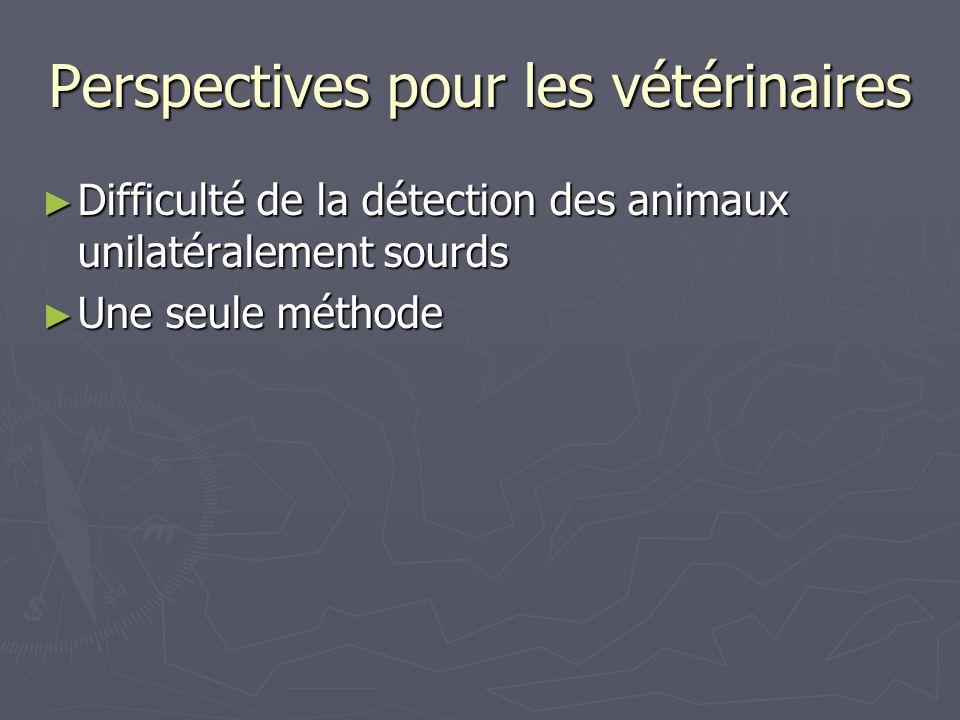 Perspectives pour les vétérinaires