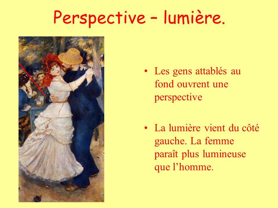 Perspective – lumière. Les gens attablés au fond ouvrent une perspective.