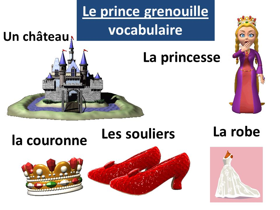 Le prince grenouille vocabulaire