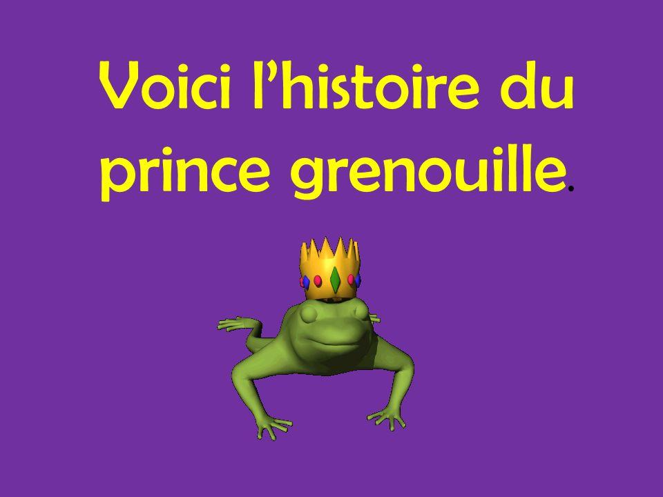 Voici l'histoire du prince grenouille.