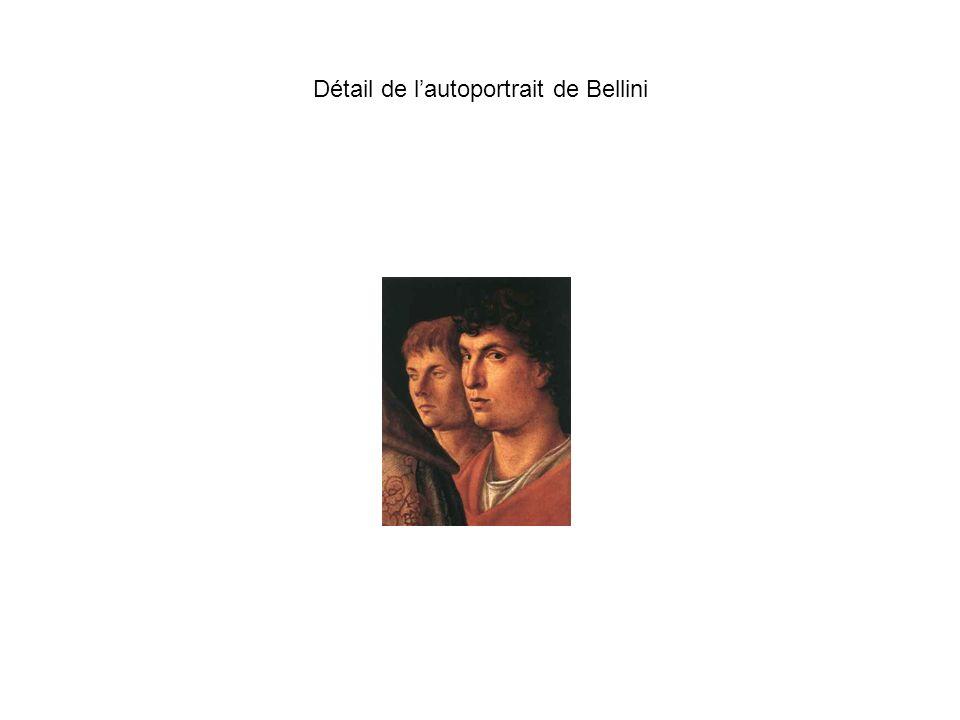 Détail de l'autoportrait de Bellini
