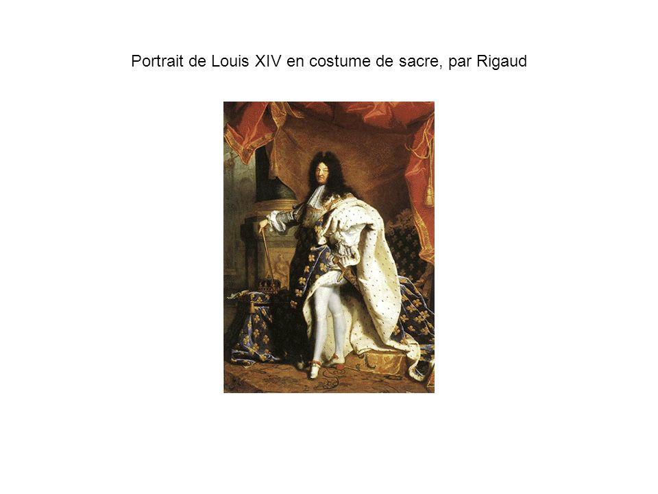 Portrait de Louis XIV en costume de sacre, par Rigaud