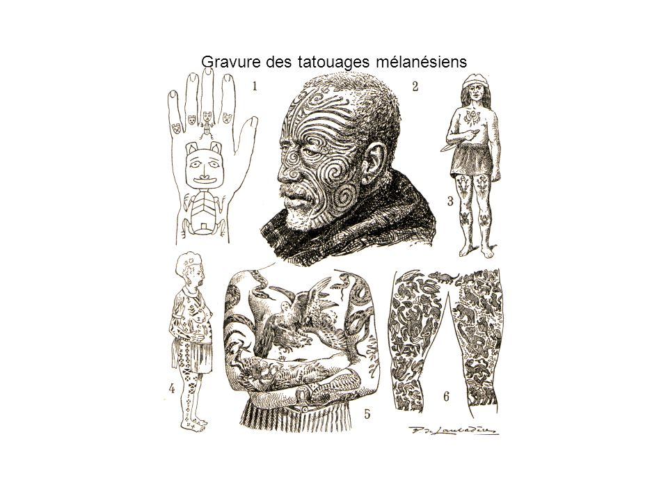Gravure des tatouages mélanésiens