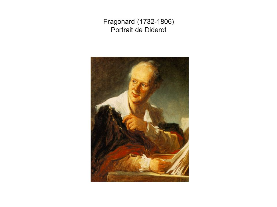 Fragonard (1732-1806) Portrait de Diderot