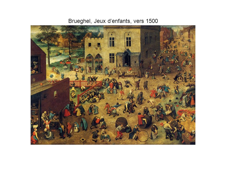 Brueghel, Jeux d'enfants, vers 1500