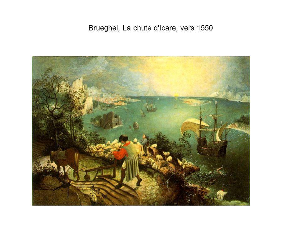 Brueghel, La chute d'Icare, vers 1550
