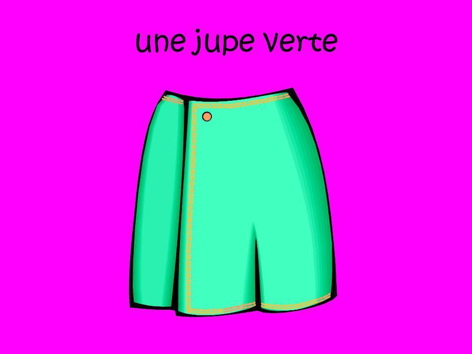 une jupe verte