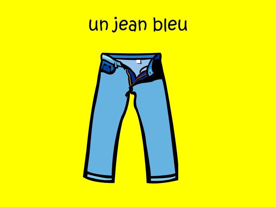 un jean bleu
