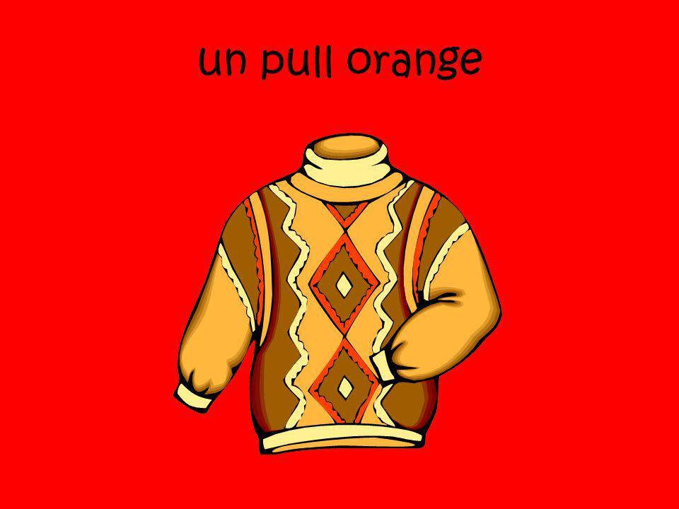 un pull orange