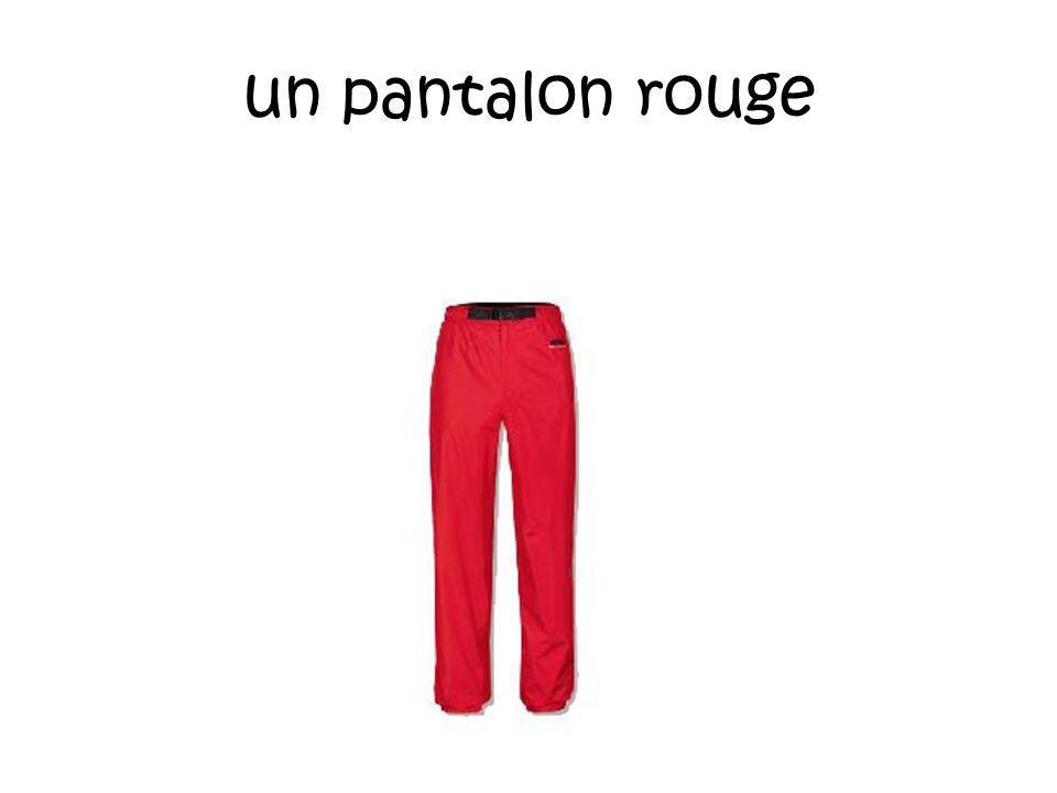 un pantalon rouge
