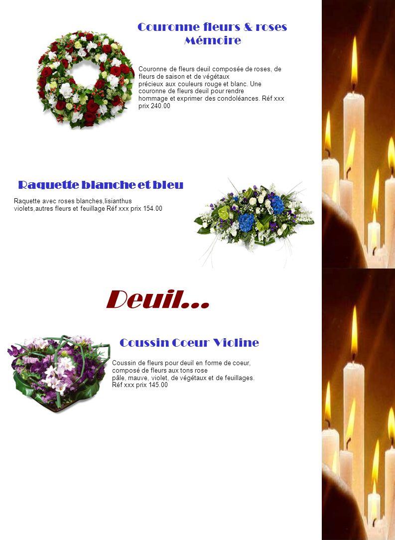 Couronne fleurs & roses Mémoire