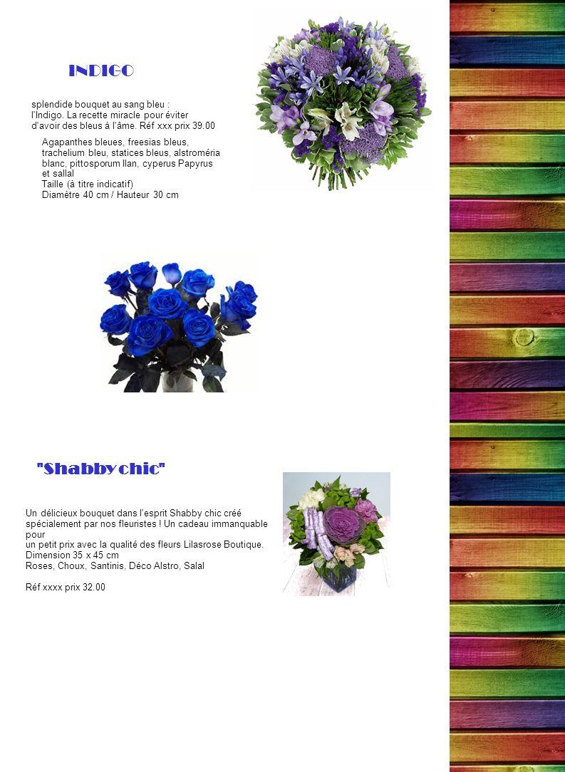 INDIGO Shabby chic splendide bouquet au sang bleu :