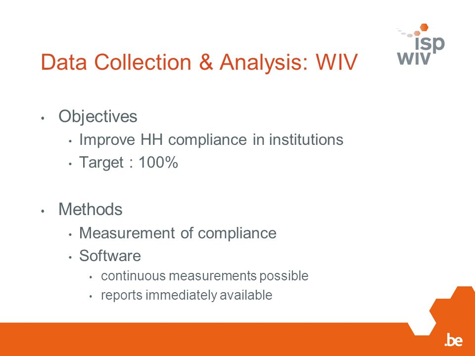 Data Collection & Analysis: WIV