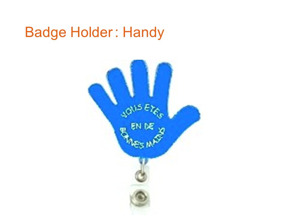 Badge Holder : Handy 2