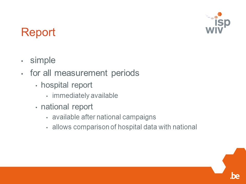 Report simple for all measurement periods hospital report