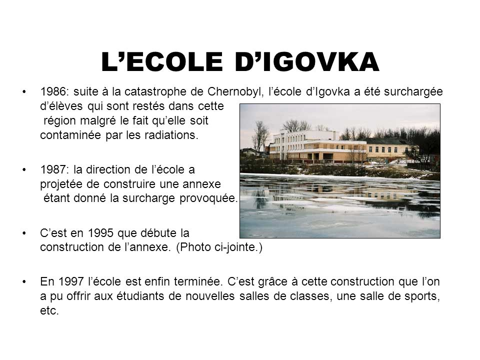 L'ECOLE D'IGOVKA