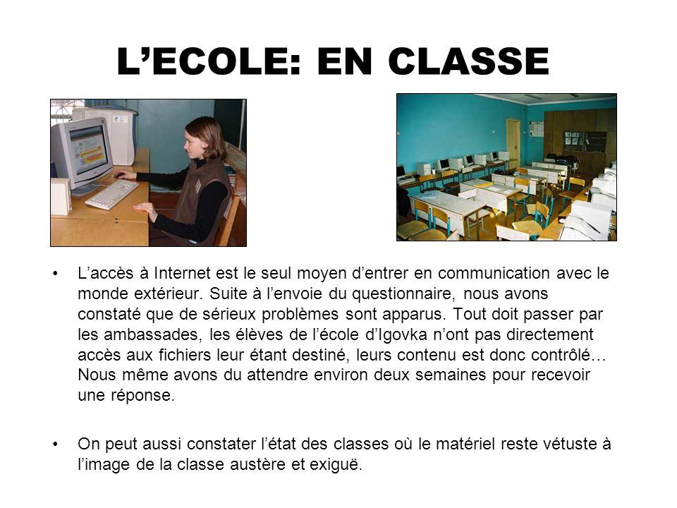 L'ECOLE: EN CLASSE