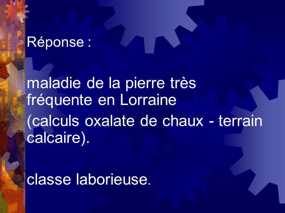 maladie de la pierre très fréquente en Lorraine
