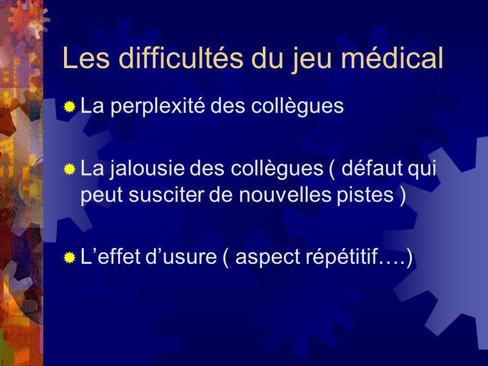 Les difficultés du jeu médical