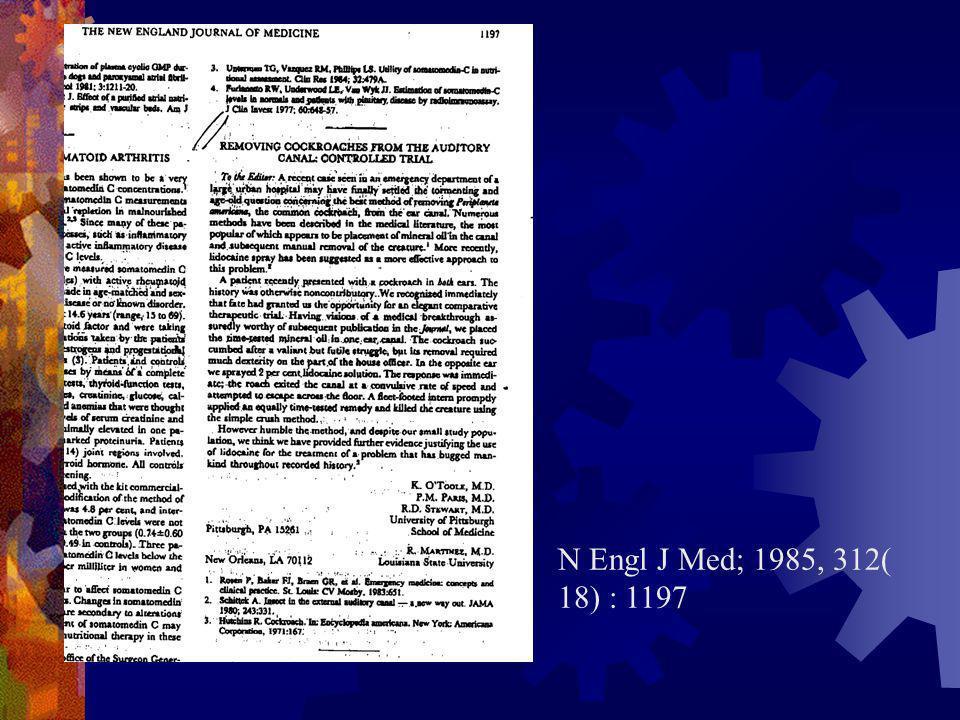 N Engl J Med; 1985, 312( 18) : 1197