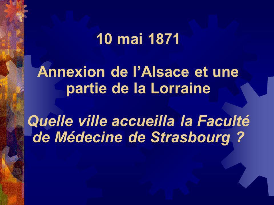 Annexion de l'Alsace et une partie de la Lorraine