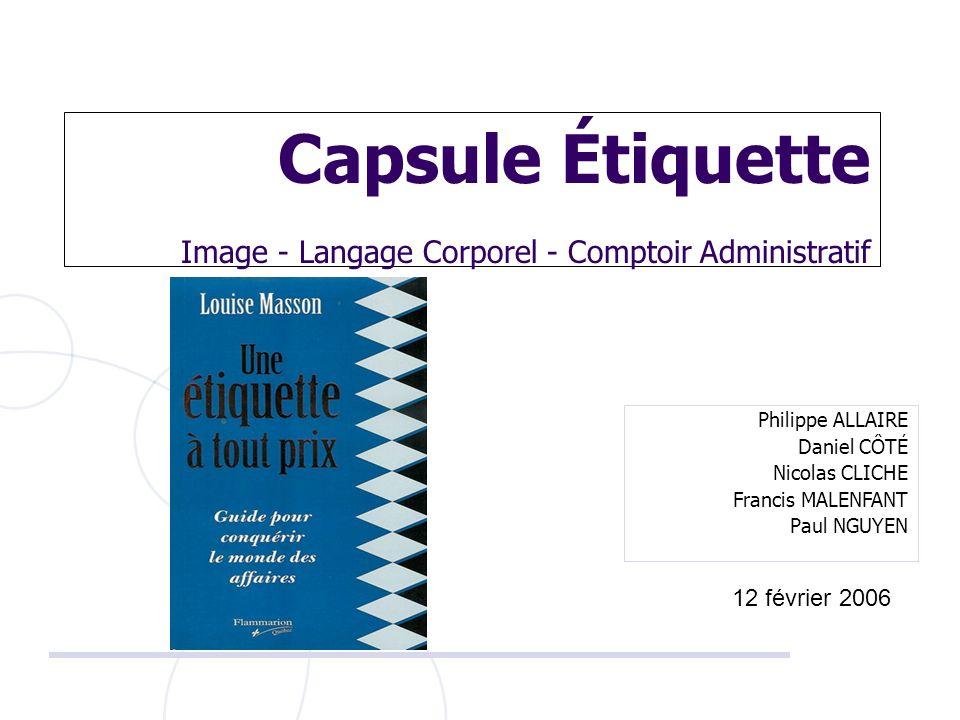 Capsule Étiquette Image - Langage Corporel - Comptoir Administratif