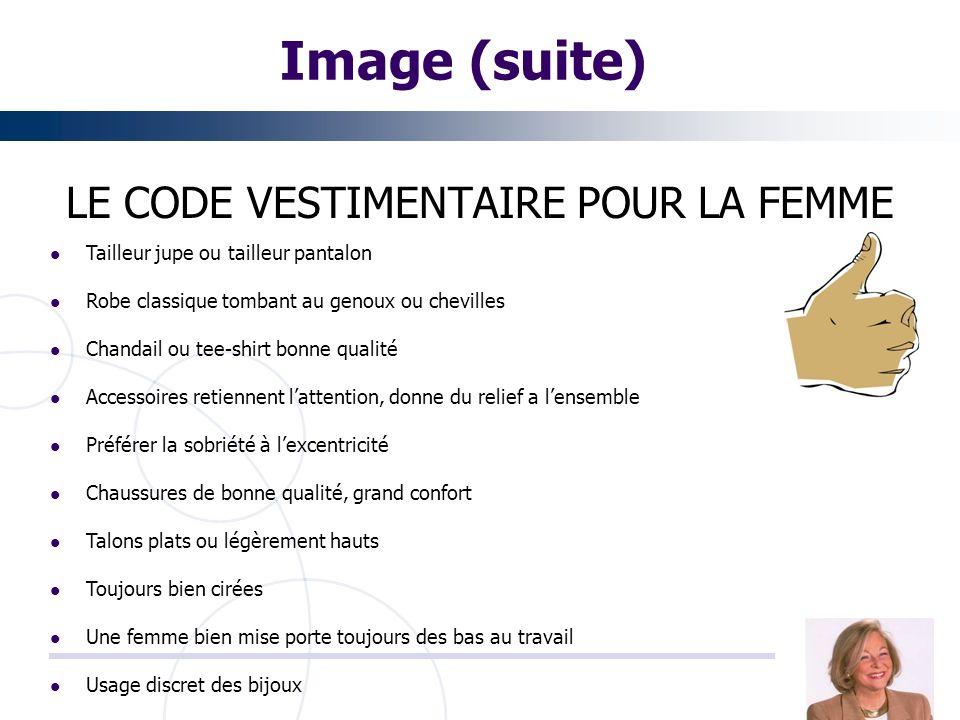 LE CODE VESTIMENTAIRE POUR LA FEMME