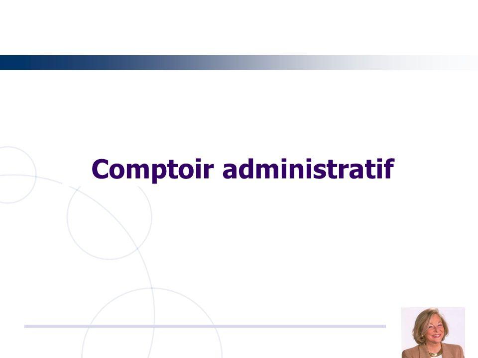Comptoir administratif