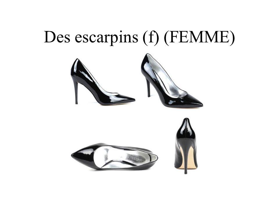 Des escarpins (f) (FEMME)