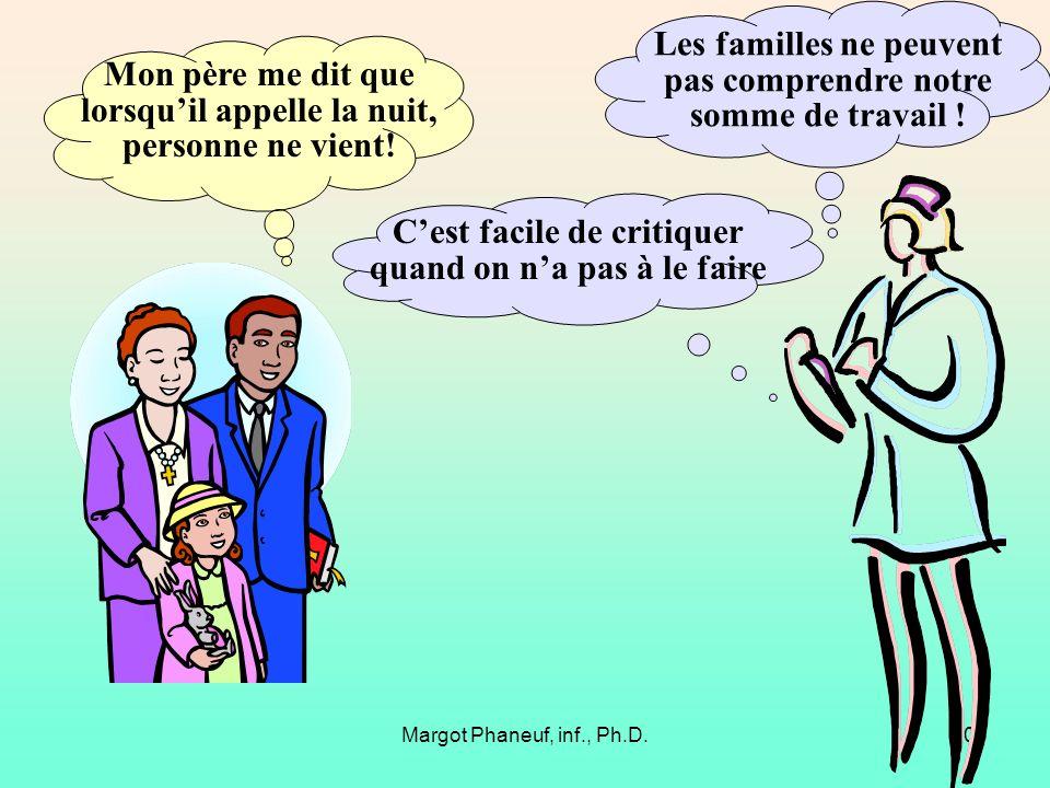 Les familles ne peuvent pas comprendre notre somme de travail !