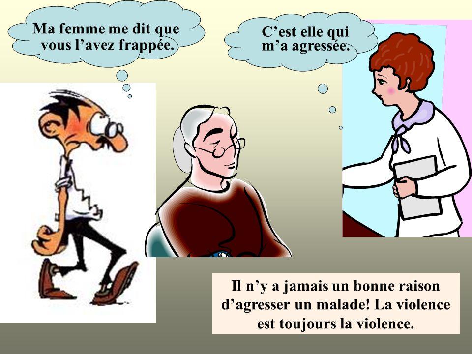 Il n'y a jamais un bonne raison est toujours la violence.