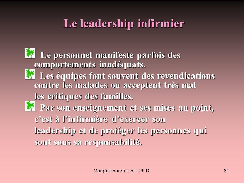 Le leadership infirmier