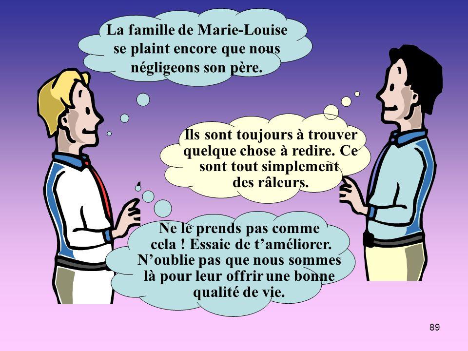 La famille de Marie-Louise se plaint encore que nous