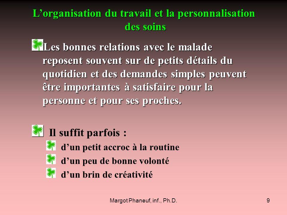 L'organisation du travail et la personnalisation