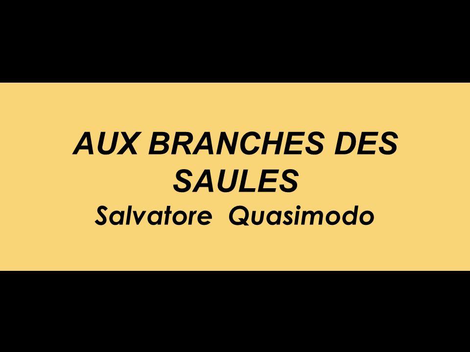 AUX BRANCHES DES SAULES Salvatore Quasimodo