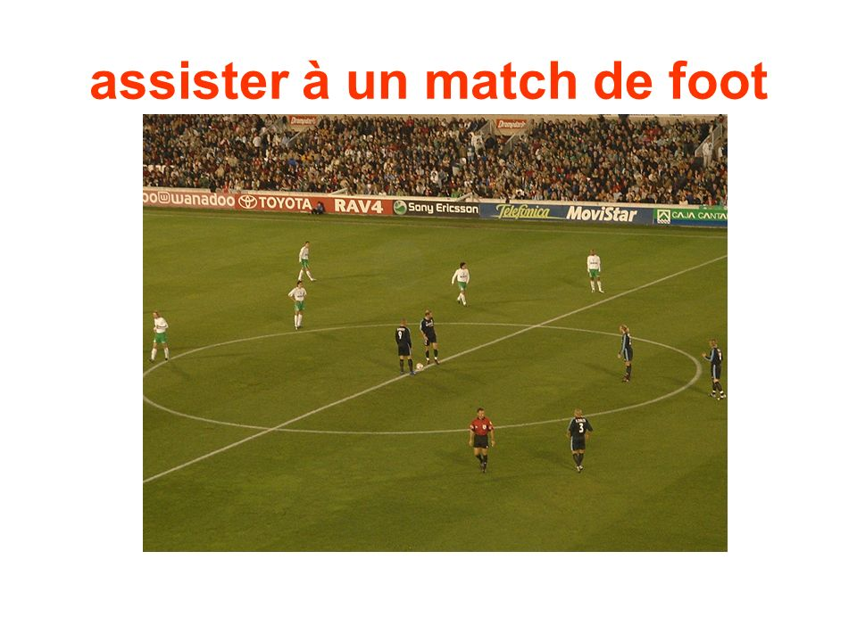 assister à un match de foot